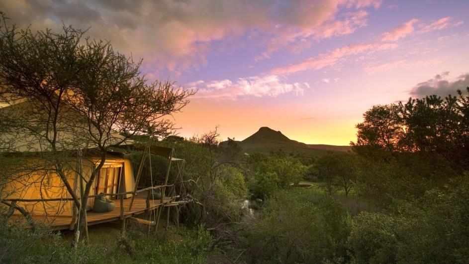 Südafrika Waterberge Marataba Safari Lodge Zelt außen