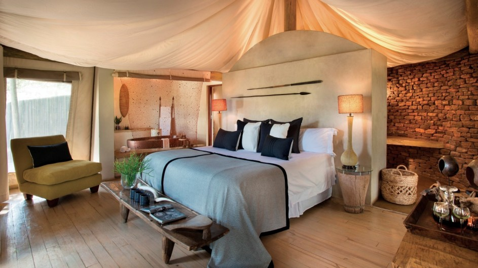 Südafrika Waterberge Marataba Safari Lodge Zelt innen