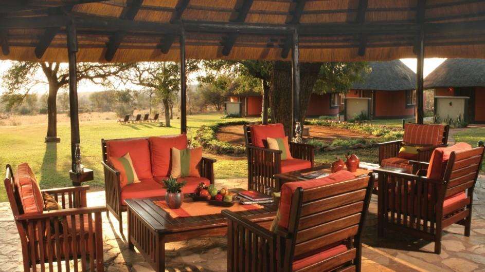 Südafrika Balue Private Nature Reserve Mohlabetsi Safari Lodge Lounge