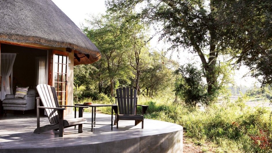 Südafrika Motswari Private Game Reserve Terrasse