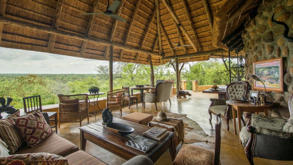 Südafrika Motswari Private Game Reserve Geigers Camp Lounge
