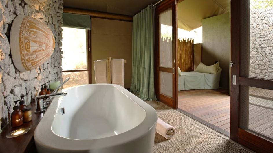 Südafrika Krüger Nationalpark Ngala Tented Camp Badezimmer