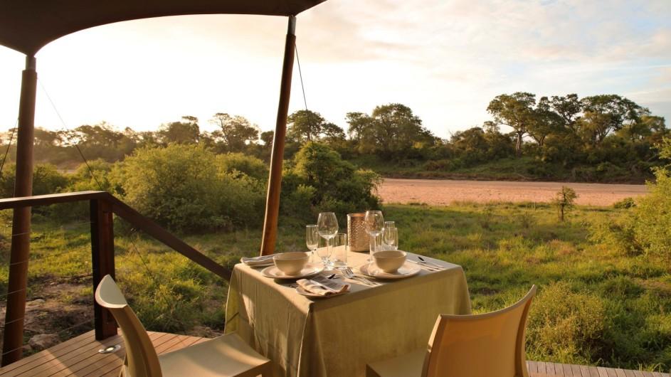 Südafrika Krüger Nationalpark Ngala Tented Camp private Terrasse