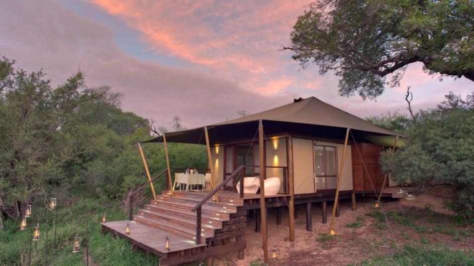 Südafrika Krüger Nationalpark Ngala Tented Camp Zelt außen