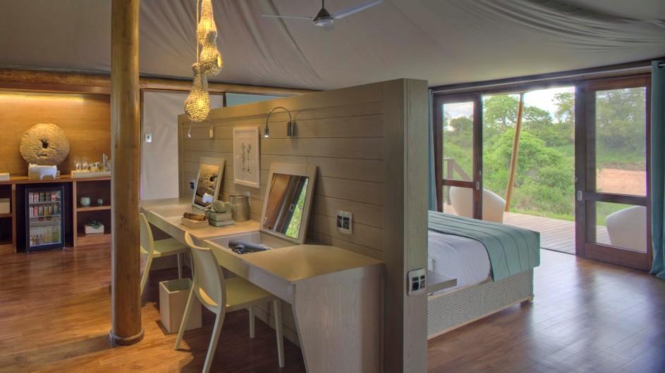 Südafrika Krüger Nationalpark Ngala Tented Camp Zelt innen