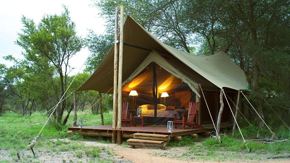 Südafrika Krüger Nationalpark Plains Camp Zelt außen