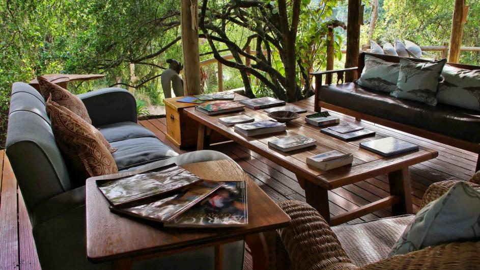 Südafrika Sibuya Game Reserve River Camp Lounge