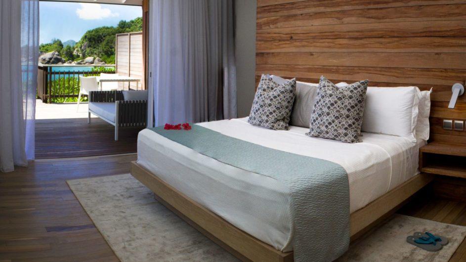 Seychellen - Mahe- Chalets innen - Carana Beach Hotel