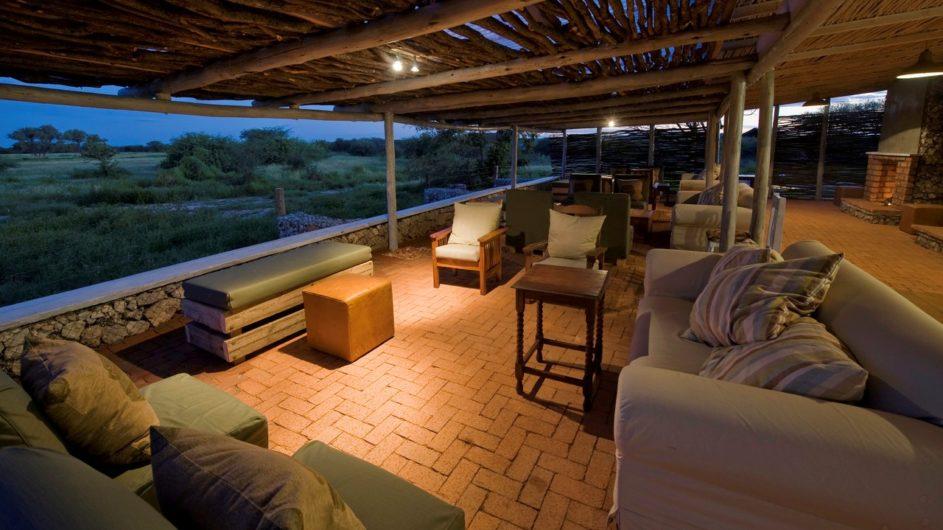 Namibia Etosha Nationalpar Anderssons Camp Ansicht Lounge