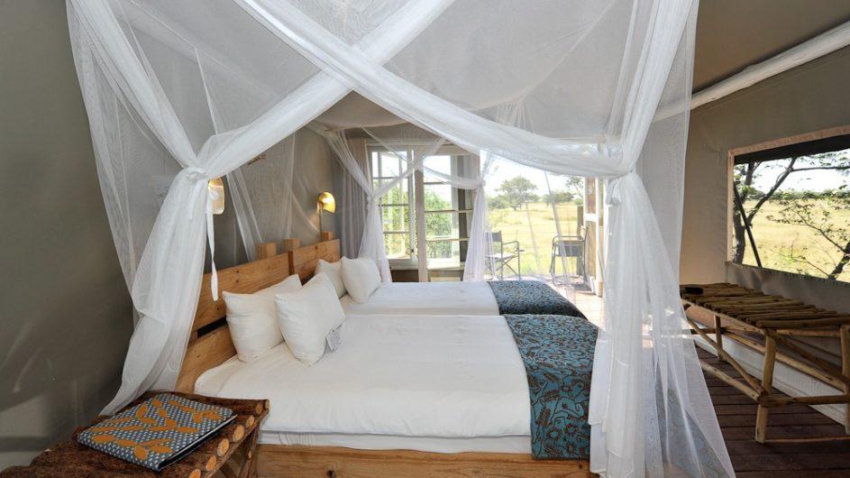 Namibia Etosha Nationalpar Anderssons Camp Ansicht Zimmer innen