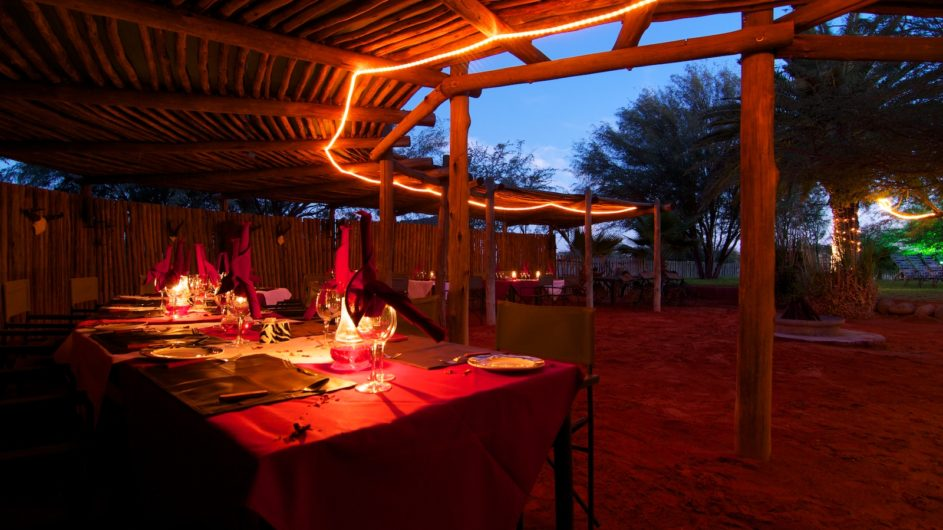 Namibia Mariental Bagatelle Kalahari Game Ranch Boma Dinner