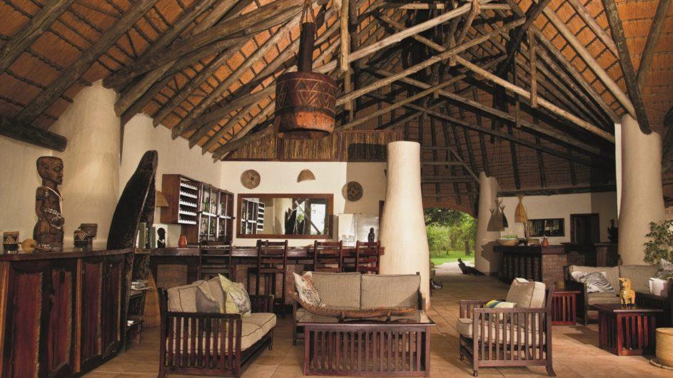 Namibia Caprivi Lianshulu Lodge Rezeption