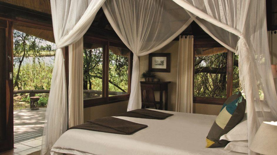 Namibia Caprivi Lianshulu Lodge Zimmer Aussicht