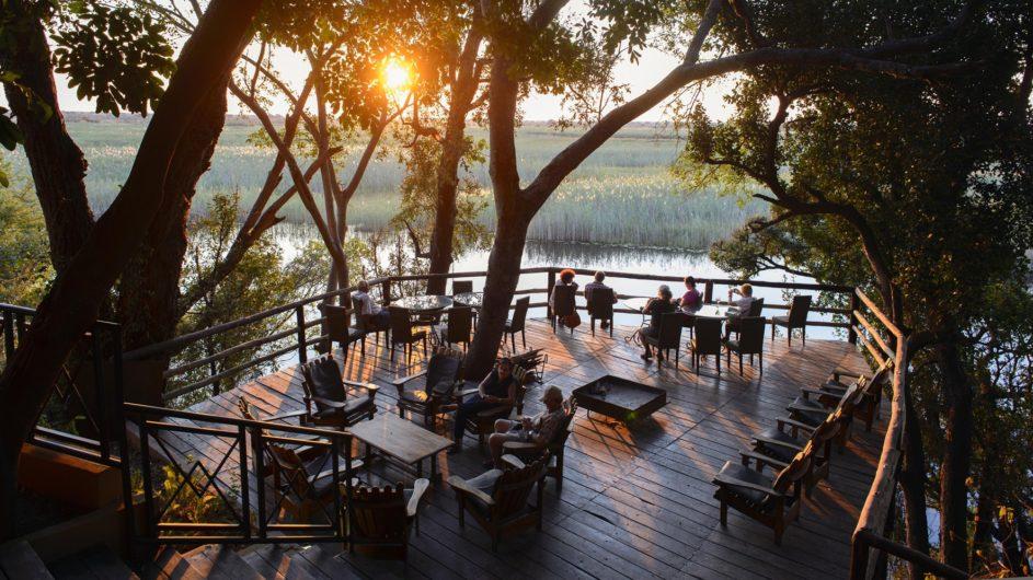 Namibia Caprivi Namushasha River Lodge Terrasse