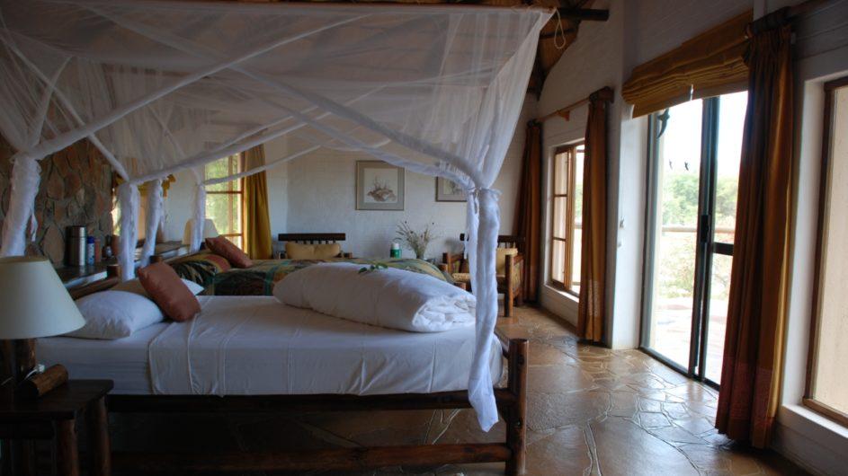 Namibia Damaraland Huab Lodge Bungalow innen