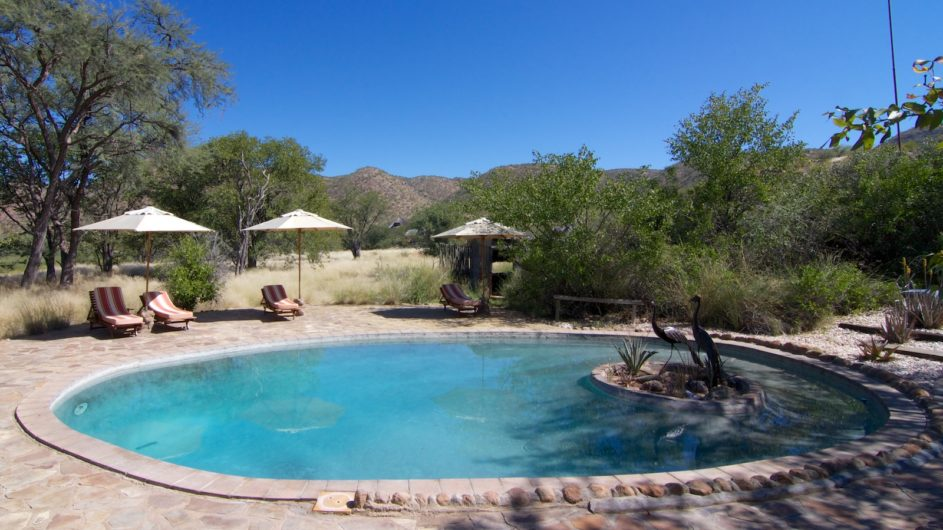 Namibia Damaraland Huab Lodge Pool