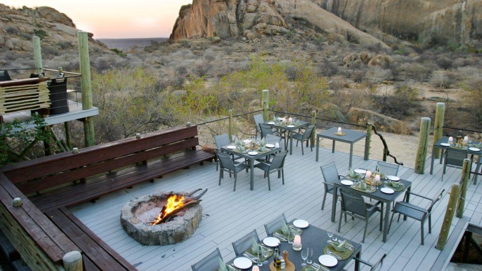 Namibia Erongo Wilderness Lodge Dinner