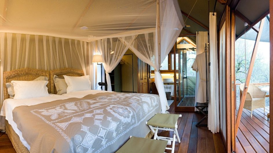 Namibia Etosha Nationalpark Mushara Outpost Zimmer innen