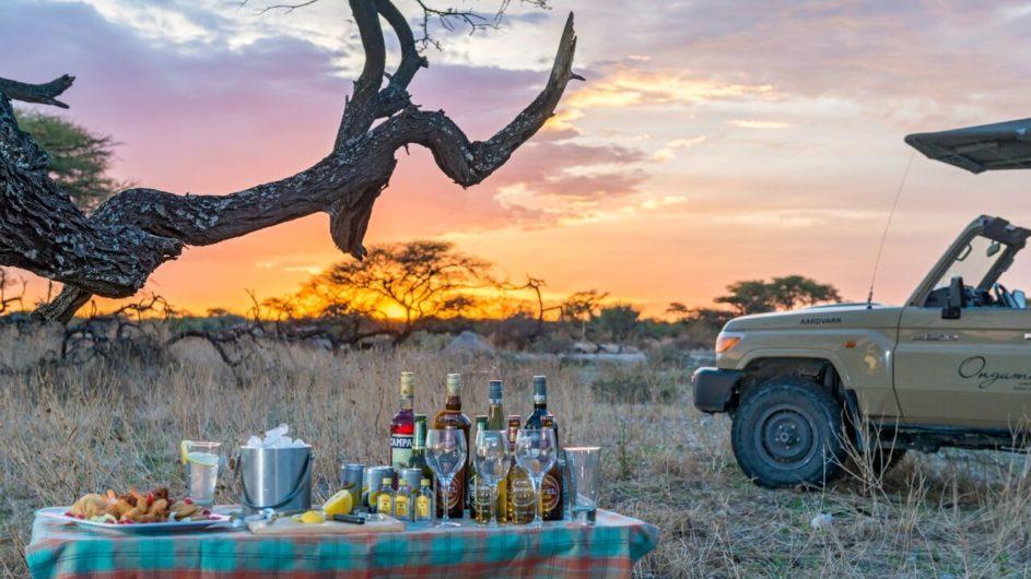 Namibia Etosha Nationalpark Onguma Sundowner
