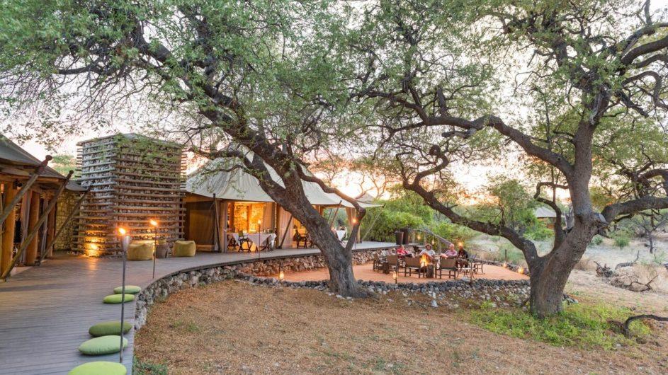 Namibia Etosha Nationalpark Onguma Tented Camp Terrasse