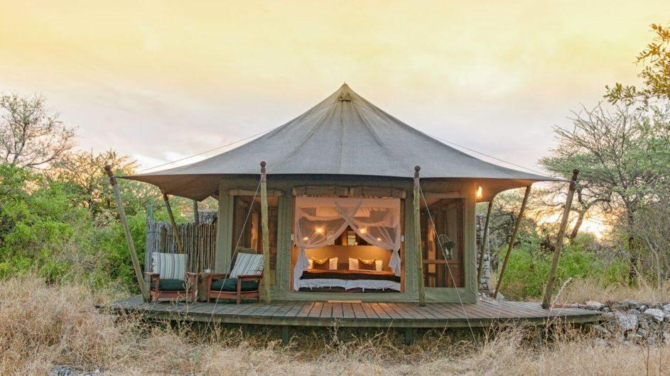 Namibia Etosha Nationalpark Onguma Tented Camp Zelt außen