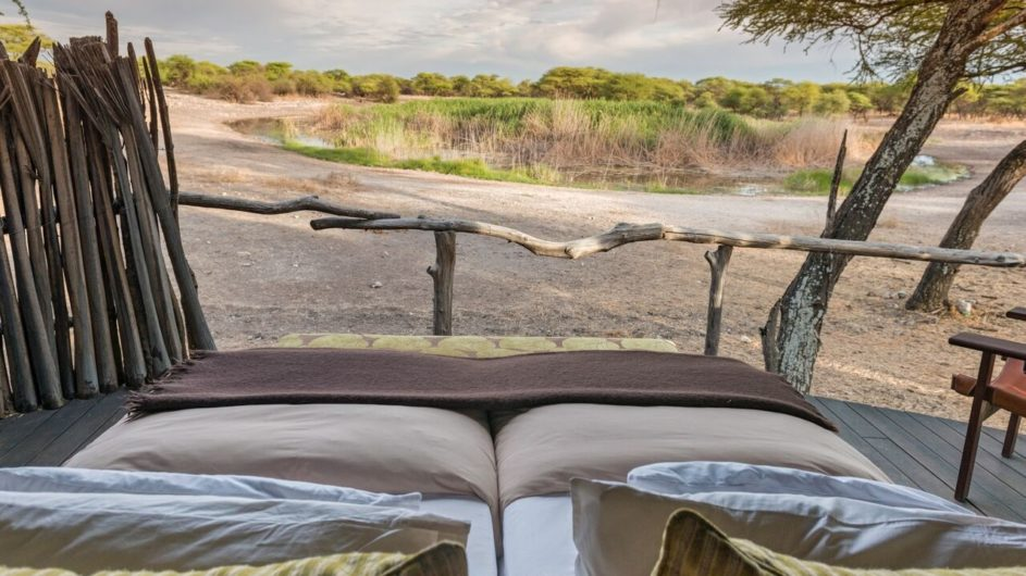 Namibia Etosha Nationalpark Onguma Tree Top Camp Zimmer Aussicht