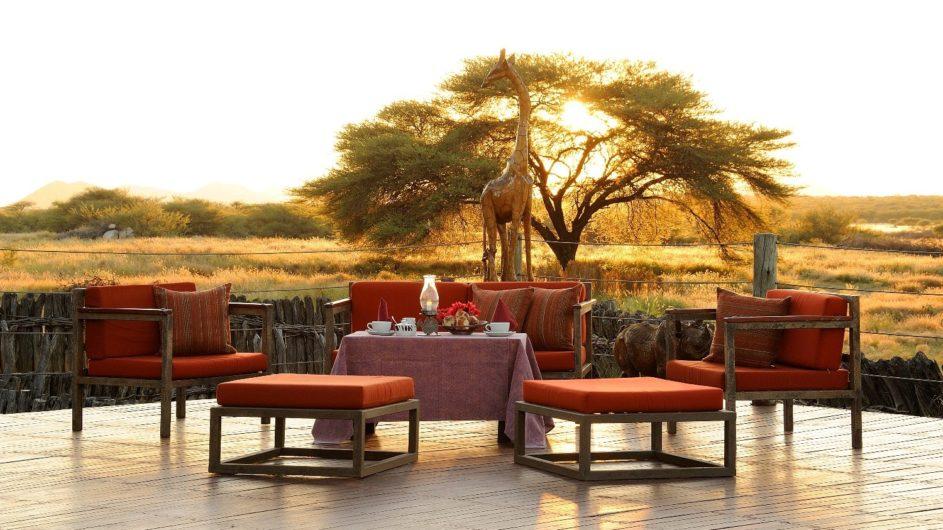 Namibia Frans Indongo Lodge Terrasse