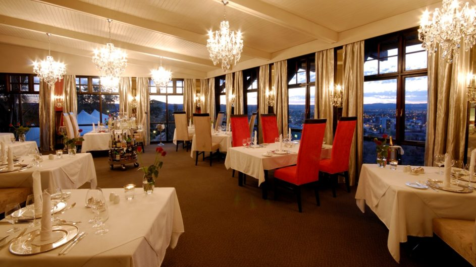 Namibia Windhoek Hotel Heinitzburg Restaurant Leos at the Castle