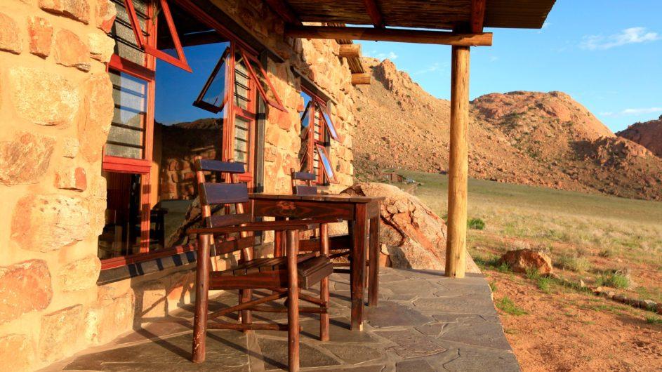 Namibia Aus Klein Aus Vista Eagles Nest Chalet Terrasse