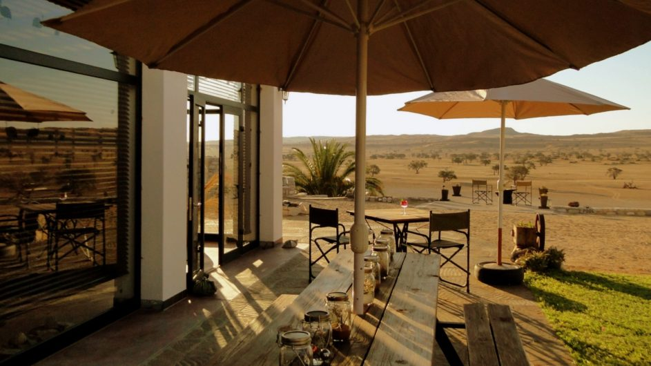Namibia Namib Tsondap Valley Lodge Terrasse