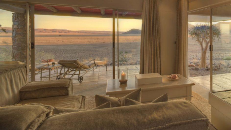 Namibia Sossusvlei Desert Lodge Zimmer innen