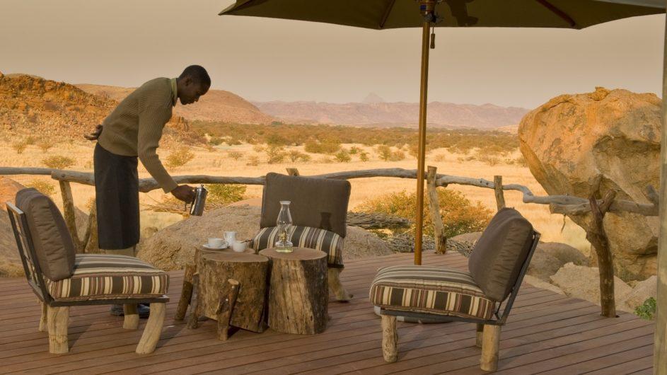 Namibia Twyfelfontein Camp Kipwe Terrasse