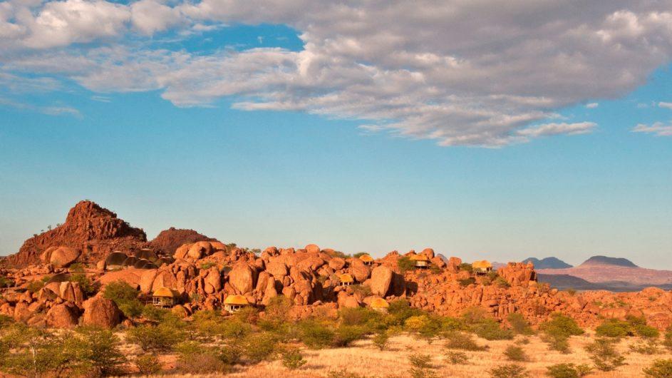 Namibia Erongo Berge Mowani Mountain Camp Ansicht