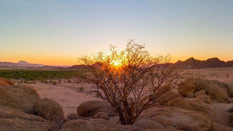 Namibia Erongo Berge Mowani Mountain Camp Landschaft