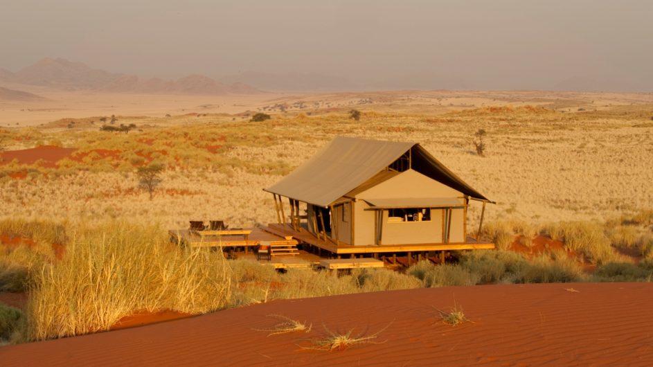 Namibia Wolwedans Dunes Camp Zimmer außen
