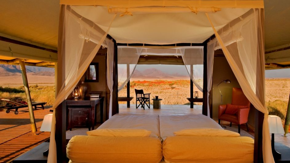 Namibia Wolwedans Dunes Camp Zimmer innen