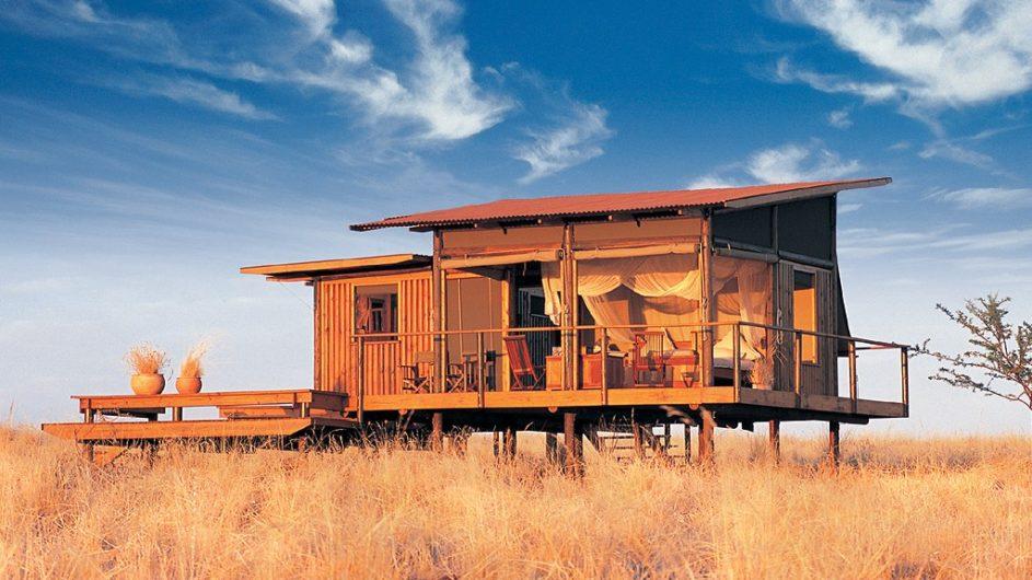Namibia Wolwedans Dunes Lodge Zimmer außen