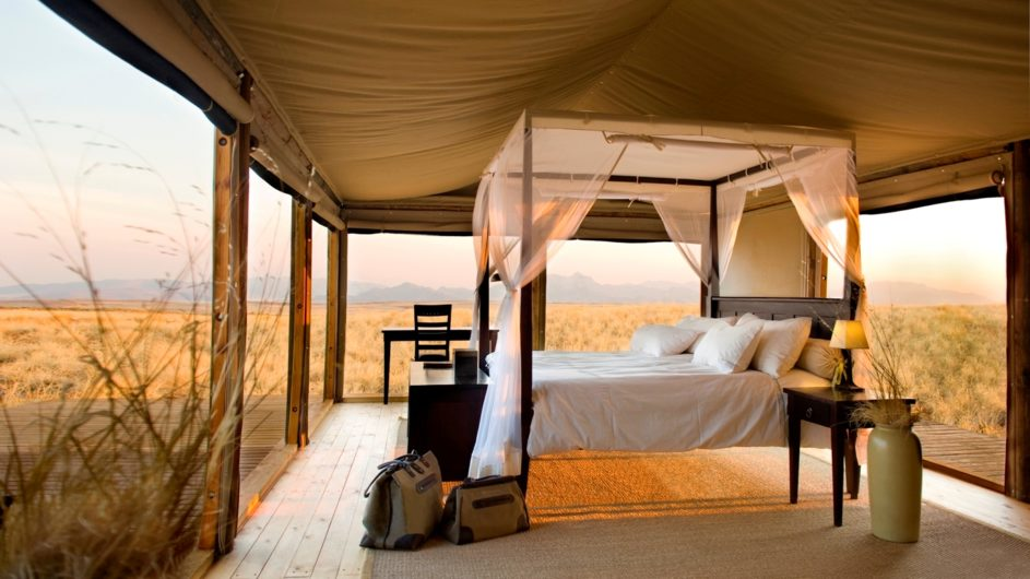 Namibia Wolwedans Dunes Lodge Zimmer innen