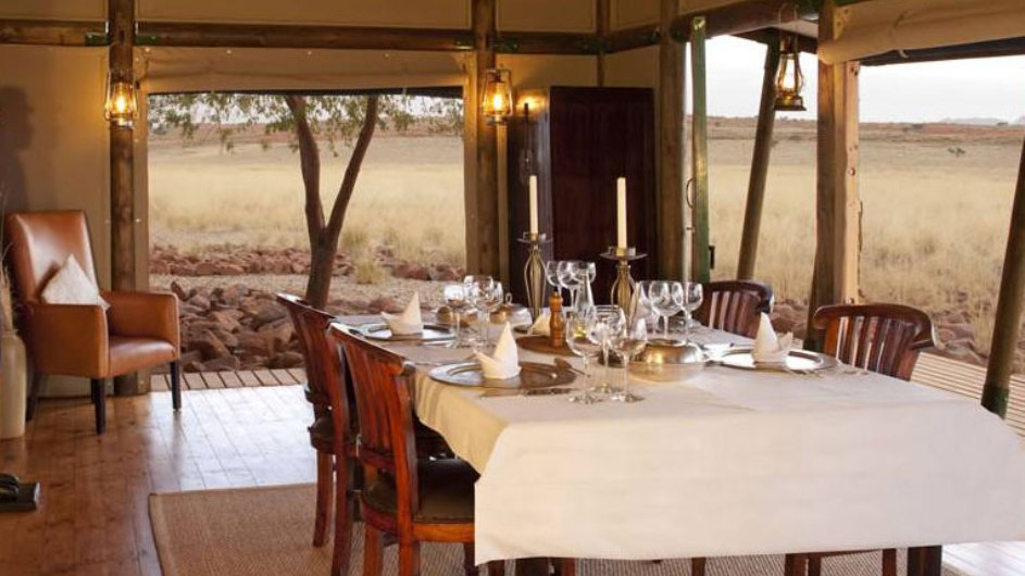 Namibia Wolwedans Private Camp Dinner