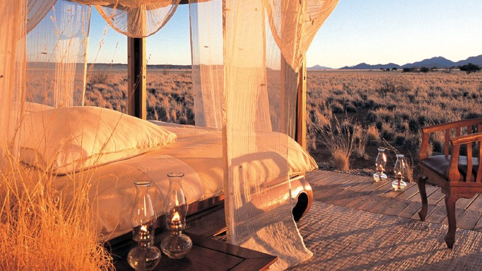 Namibia Wolwedans Private Camp Zimmer Aussicht