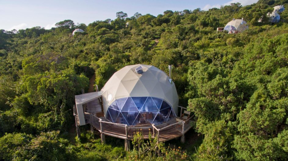 Tanzania Ngorongoro Krater Asilia The Higlands Zimmer Dome Aussenansicht
