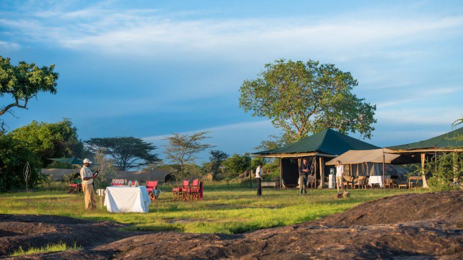 Tanzania Sanctuary Serengeti Migration Camp Ansicht