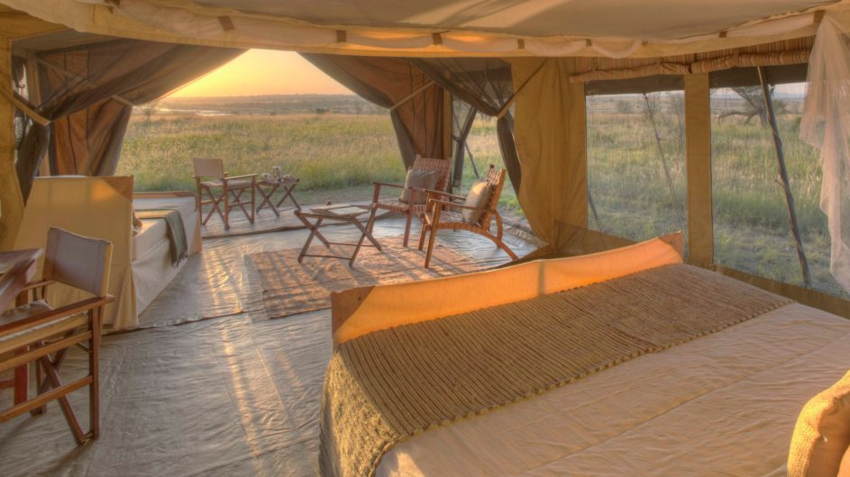 Tanzania Serengeti Asilia Olakira Camp Zelt Ausblick Sonnenaufgang