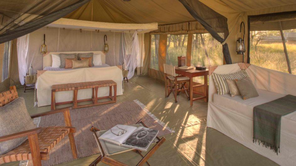 Tanzania Serengeti Asilia Olakira Camp Zelt innen