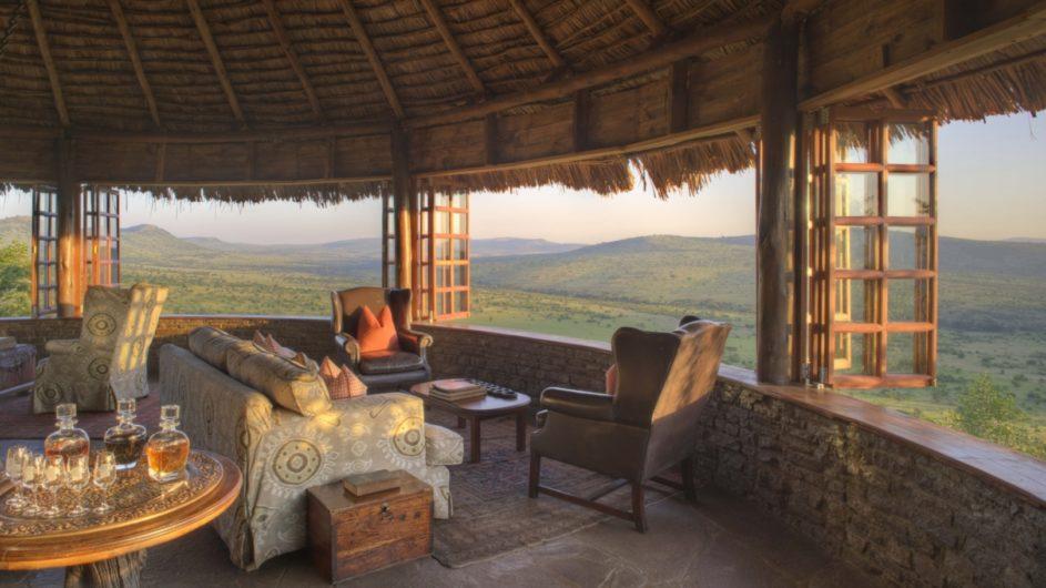 Tanzania Serengeti andBeyond Kleins Camp Lounge mit Aussicht