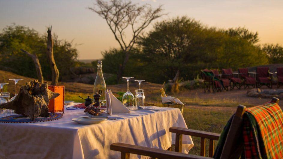 Tanzania Serengeti Sanctuary Kusini privates Dinner