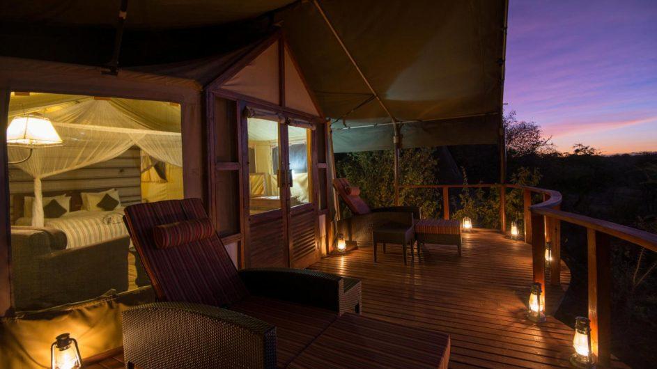 Tanzania Serengeti Sanctuary Kusini Zelt mit Terrasse