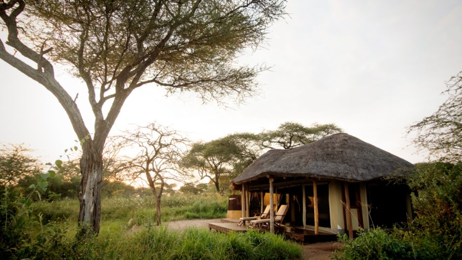 Tanzania Tarangire Nationalpark Sailia Olivers Camp Zimmer Ansicht