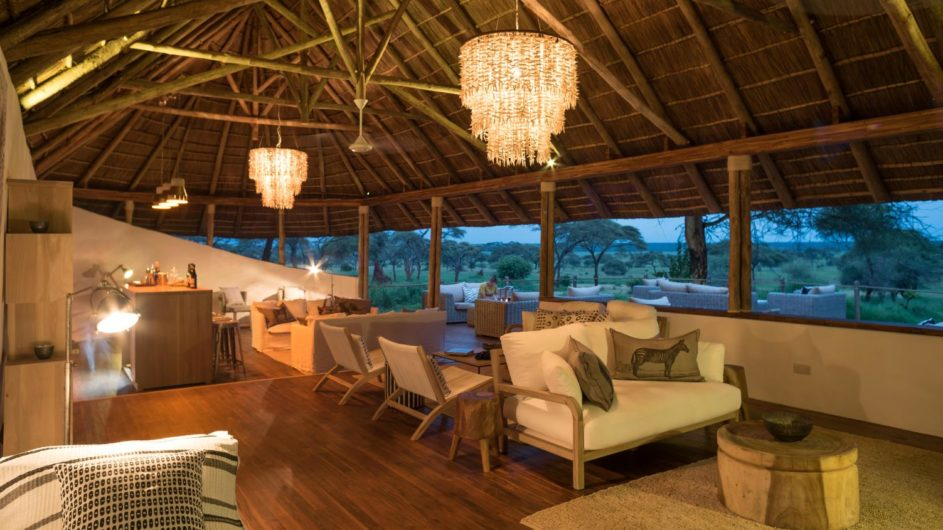 Tanzania Tarangire Nationalpark Sanctuary Swala Camp Lounge