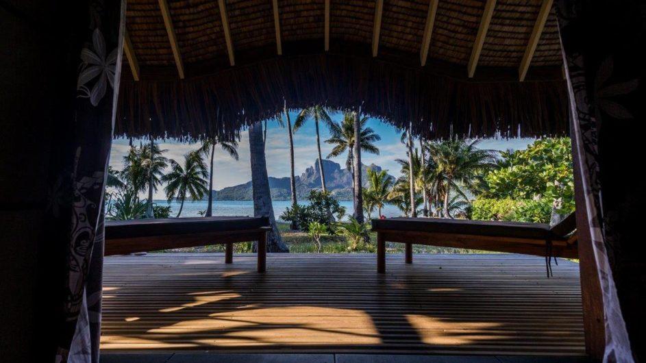 Französisch Polynesien Bora Bora Pension Alice & Raphael Bungalow Aussicht